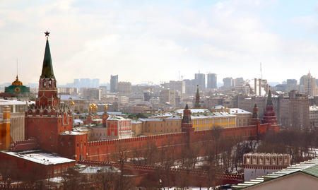 View on Moscow Kremlin on sunny day, Russia