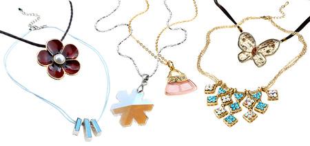 pendants: set of festive pendants isolated on white