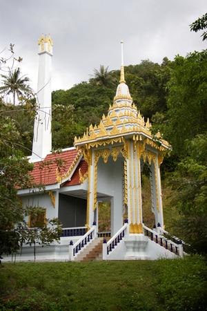 crematorium: crematorium in buddhist monastery in Thailand Stock Photo