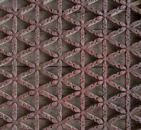 lattice window: beautiful carved wooden window lattice Stock Photo