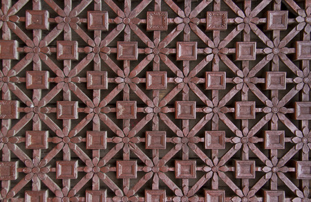 lattice window: delicate carved wooden window lattice