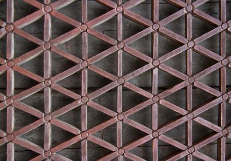 latticework: lattice made from carved wood Stock Photo