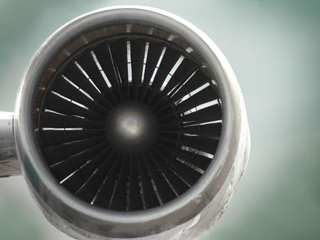turbojet: close up of airplane turbine