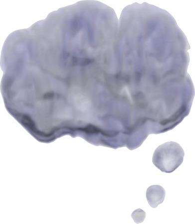 gloomy: Watercolor gloomy cloud. Dark watercolor speech bubble