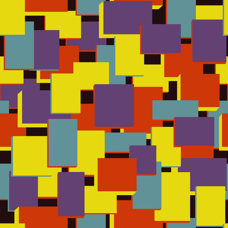 faint: Retro seamless pattern on dark background. Vector illustration. Abstract wallpaper. Colorful geometric pattern with rectangles