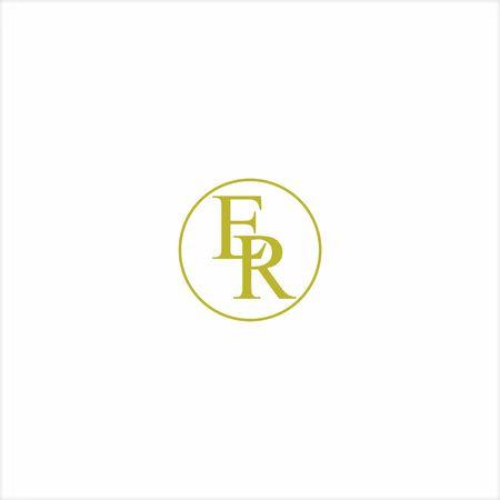 logo E and R icon vector designs