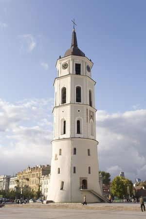 loopholes: The bell tower at Vilnius Cathedral Square, Lithuania.