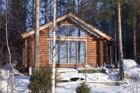 Enlargement of summer home. Building of a new indoor terrace. photo