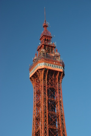 The top section of Blackpool Tower, Lancashire, UK