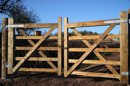 Locked Farm Gates