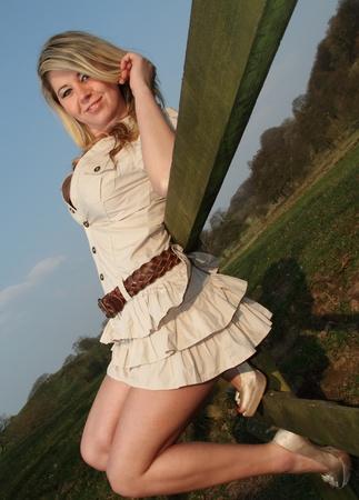 Beautiful and sexy blonde model Stock Photo