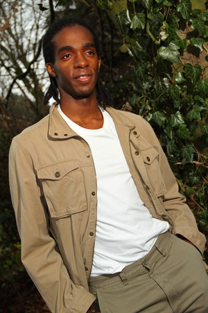 Young male fashion model