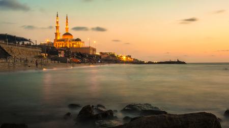 gaza: Alkhaldi Mosque  In the Sudania Sea North of Gaza