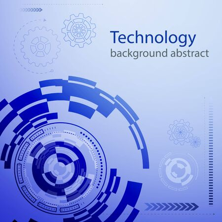 Abstract technology background . Vector illustration.