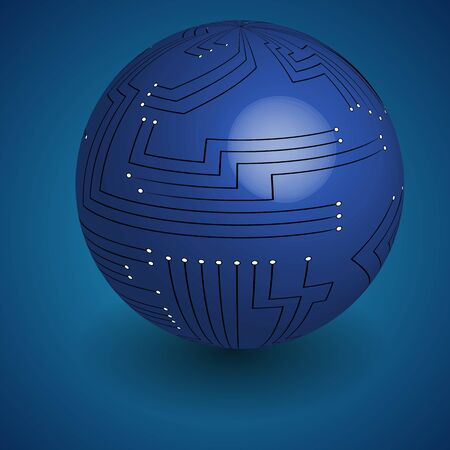 Abstract globe icon. Vector illustration.