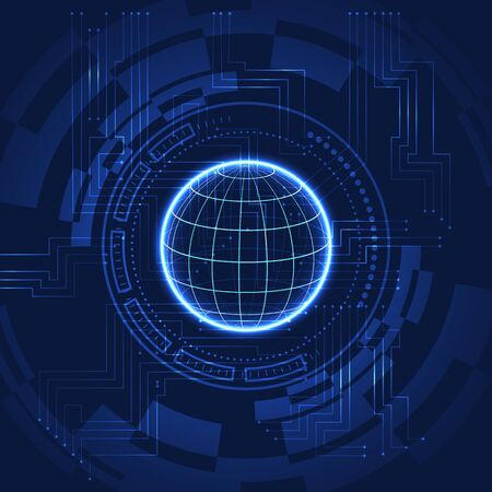 Abstract technology background with bright flare. Vector illustration. Stockfoto - 133421448