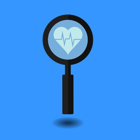 Heart search icon Çizim