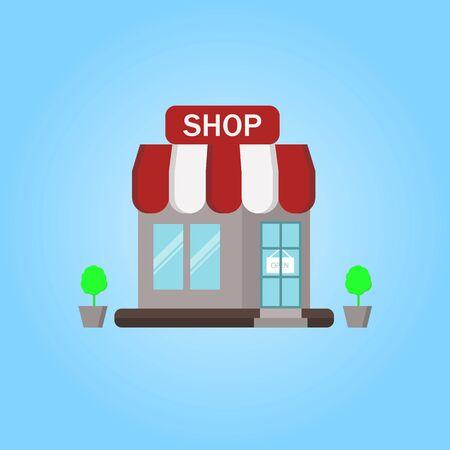 Vector Shop, Illustration, Icon, Background.