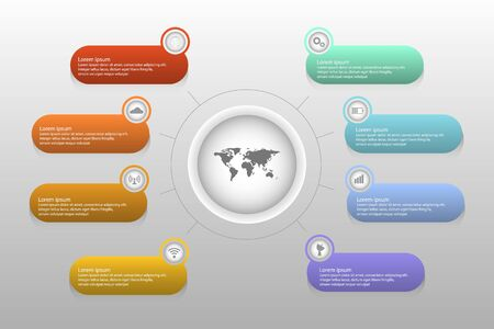 Timeline infographics design vector and marketing icons can be used for workflow layout, diagram, annual report, web design. Business concept with 6 options, processes.