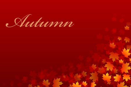 Vector background for design on a theme of autumn Illustration