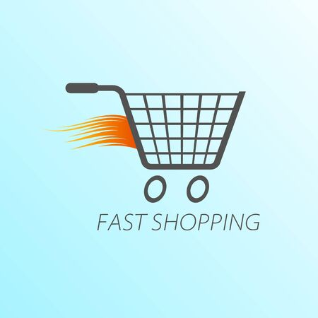 Online shop, online store logo. Logotype For business. isolated vector illustration.