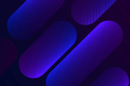 Colorful geometric background. Dynamic shapes composition.
