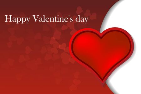 Vector Illustration of a Valentines Day Card. vector Stock Illustratie