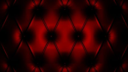 padded: 3d render of black and red pattern