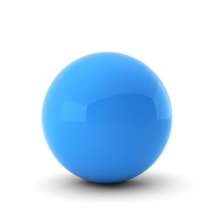 3d render of  blue ball on white Stock Photo