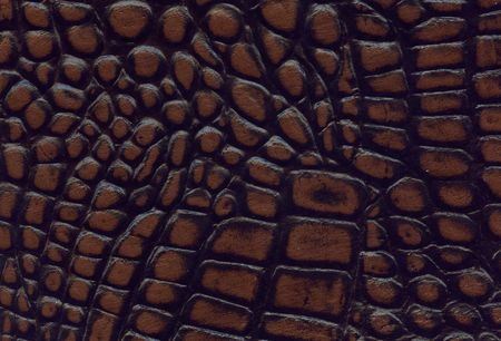 brown and black crocodile leather texture Stock Photo