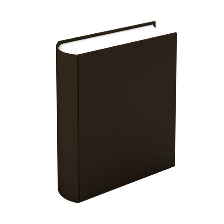 3d render of brown book on white photo