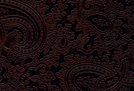 brown leather texture with floral pattern photo