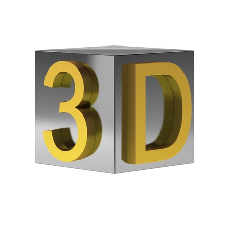 the third dimension: 3d render of 3d sign