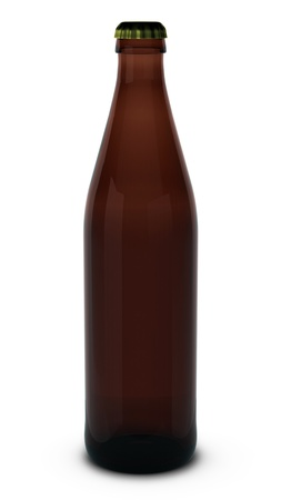 3d render of beer bottle photo