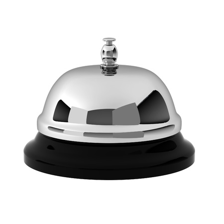 3d render of chrome reception bell Stock Photo