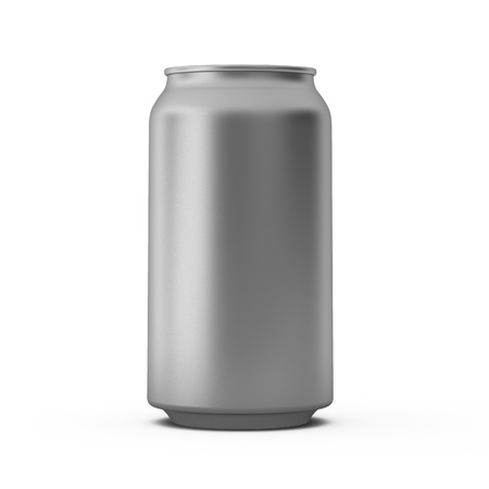 drink can: 3d render of metal can