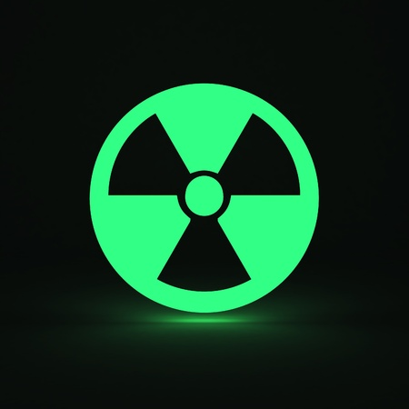 3d render of radiation sign Stock Photo - 9217327