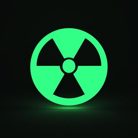gamma radiation: 3d render of radiation sign