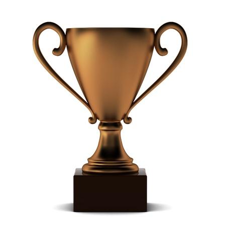 3d render of bronze cup Stock Photo - 9295922