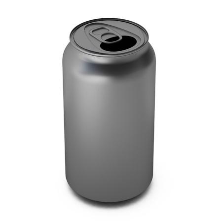 aluminium: 3d render of aluminium can Stock Photo
