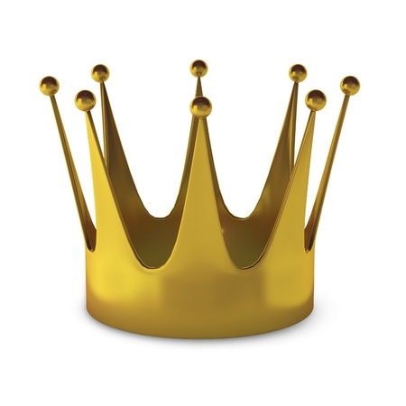3d render of gold crown photo