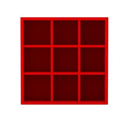 3d render of book shelf Stock Photo - 9295890