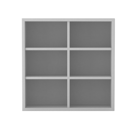 3d render of white shelf Stock Photo - 9295904