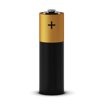 plus size: 3d render of battery Stock Photo