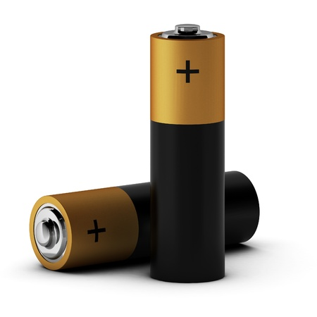durability: 3d render of batteries Stock Photo