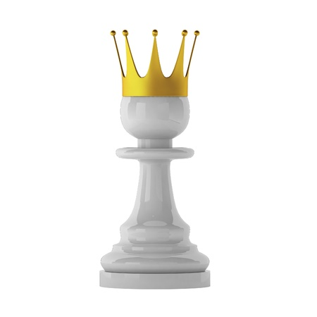 pawn king: 3d render of pawn Stock Photo