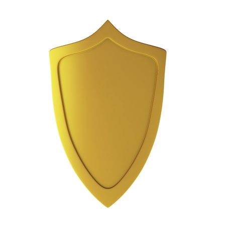 defend: 3d render of shield