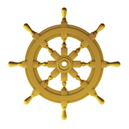 3d render of gold wheel