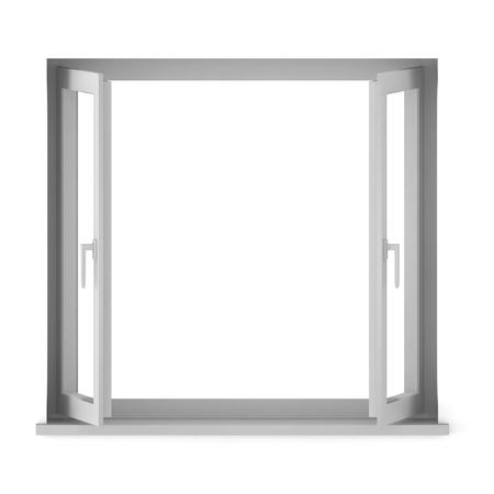 3d render of opened window Stock Photo - 9406034