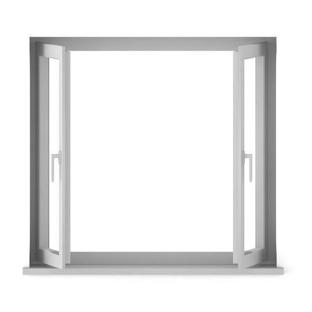 3d render of opened window photo